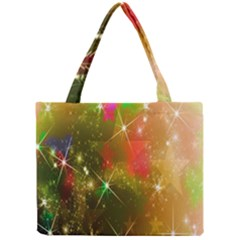 Star Christmas Background Image Red Mini Tote Bag