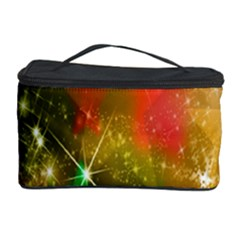Star Christmas Background Image Red Cosmetic Storage Case