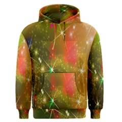 Star Christmas Background Image Red Men s Pullover Hoodie