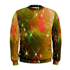 Star Christmas Background Image Red Men s Sweatshirt