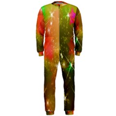 Star Christmas Background Image Red OnePiece Jumpsuit (Men)