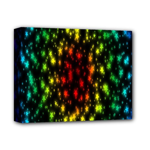 Star Christmas Curtain Abstract Deluxe Canvas 14  X 11