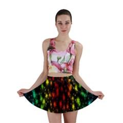 Star Christmas Curtain Abstract Mini Skirt