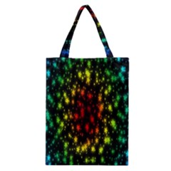 Star Christmas Curtain Abstract Classic Tote Bag