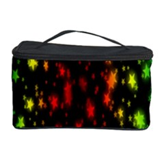 Star Christmas Curtain Abstract Cosmetic Storage Case
