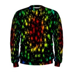 Star Christmas Curtain Abstract Men s Sweatshirt