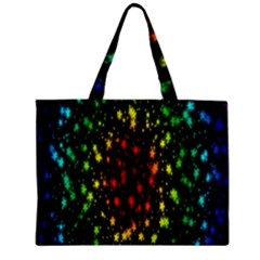 Star Christmas Curtain Abstract Zipper Mini Tote Bag
