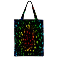 Star Christmas Curtain Abstract Zipper Classic Tote Bag