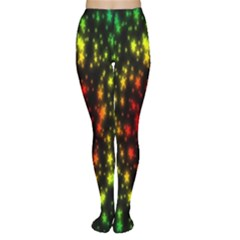 Star Christmas Curtain Abstract Women s Tights