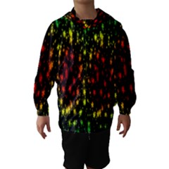 Star Christmas Curtain Abstract Hooded Wind Breaker (Kids)