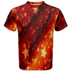 Star Christmas Pattern Texture Men s Cotton Tee