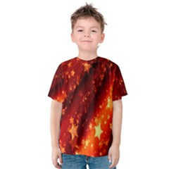 Star Christmas Pattern Texture Kids  Cotton Tee