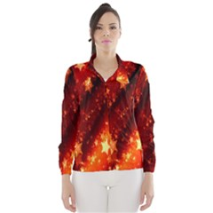 Star Christmas Pattern Texture Wind Breaker (women)