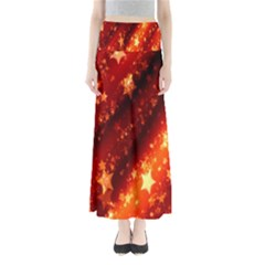 Star Christmas Pattern Texture Maxi Skirts