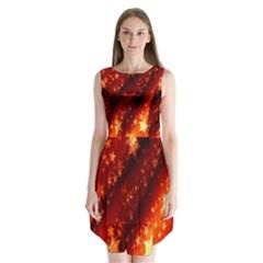Star Christmas Pattern Texture Sleeveless Chiffon Dress
