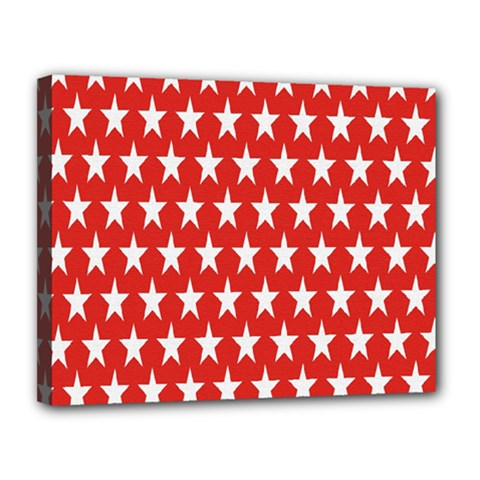 Star Christmas Advent Structure Canvas 14  x 11