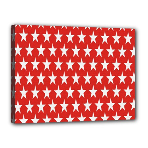 Star Christmas Advent Structure Canvas 16  x 12