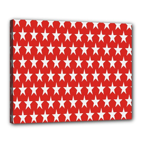 Star Christmas Advent Structure Canvas 20  X 16