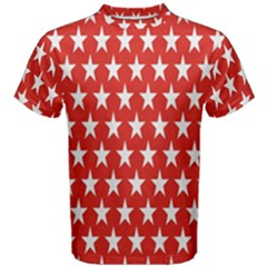 Star Christmas Advent Structure Men s Cotton Tee