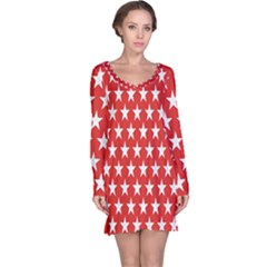 Star Christmas Advent Structure Long Sleeve Nightdress