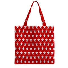 Star Christmas Advent Structure Zipper Grocery Tote Bag
