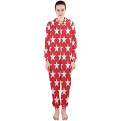 Star Christmas Advent Structure Hooded Jumpsuit (ladies)
