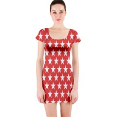 Star Christmas Advent Structure Short Sleeve Bodycon Dress