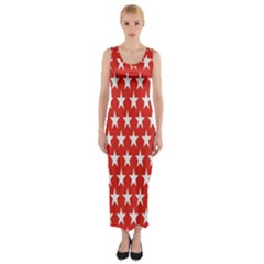 Star Christmas Advent Structure Fitted Maxi Dress