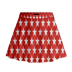 Star Christmas Advent Structure Mini Flare Skirt