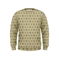Star Basket Pattern Basket Pattern Kids  Sweatshirt