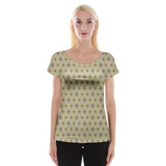 Star Basket Pattern Basket Pattern Women s Cap Sleeve Top
