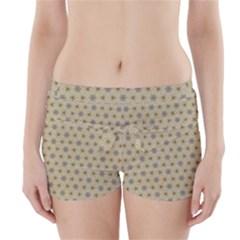 Star Basket Pattern Basket Pattern Boyleg Bikini Wrap Bottoms