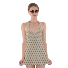 Star Basket Pattern Basket Pattern Halter Swimsuit Dress