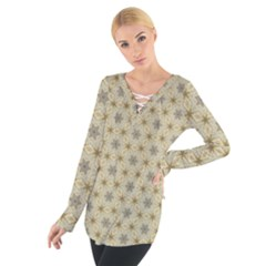 Star Basket Pattern Basket Pattern Women s Tie Up Tee