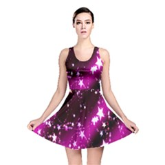Star Christmas Sky Abstract Advent Reversible Skater Dress