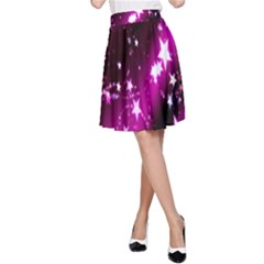 Star Christmas Sky Abstract Advent A Line Skirt