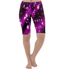Star Christmas Sky Abstract Advent Cropped Leggings