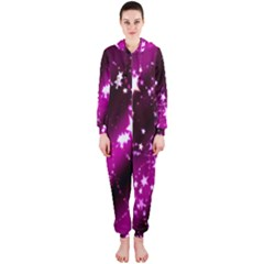 Star Christmas Sky Abstract Advent Hooded Jumpsuit (Ladies)