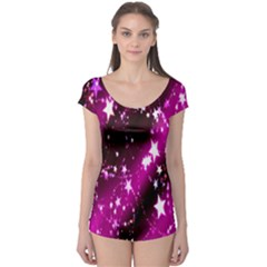 Star Christmas Sky Abstract Advent Boyleg Leotard