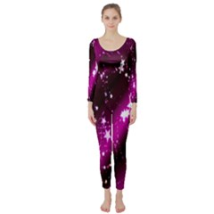 Star Christmas Sky Abstract Advent Long Sleeve Catsuit
