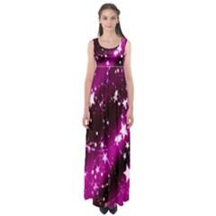 Star Christmas Sky Abstract Advent Empire Waist Maxi Dress