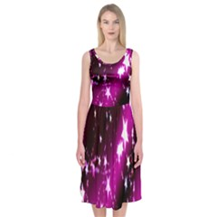 Star Christmas Sky Abstract Advent Midi Sleeveless Dress
