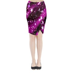 Star Christmas Sky Abstract Advent Midi Wrap Pencil Skirt