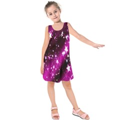 Star Christmas Sky Abstract Advent Kids  Sleeveless Dress