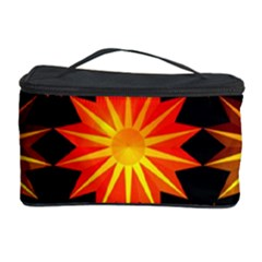 Stars Patterns Christmas Background Seamless Cosmetic Storage Case
