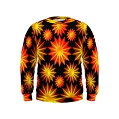 Stars Patterns Christmas Background Seamless Kids  Sweatshirt