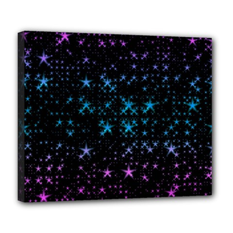 Stars Pattern Deluxe Canvas 24  X 20