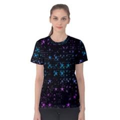 Stars Pattern Women s Cotton Tee