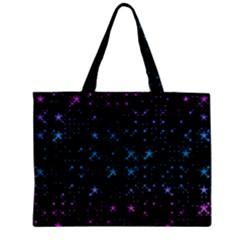 Stars Pattern Zipper Mini Tote Bag