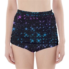 Stars Pattern High-Waisted Bikini Bottoms